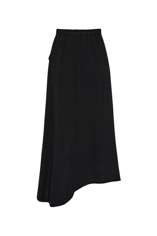 DRAWSTRING SKIRT BLACK