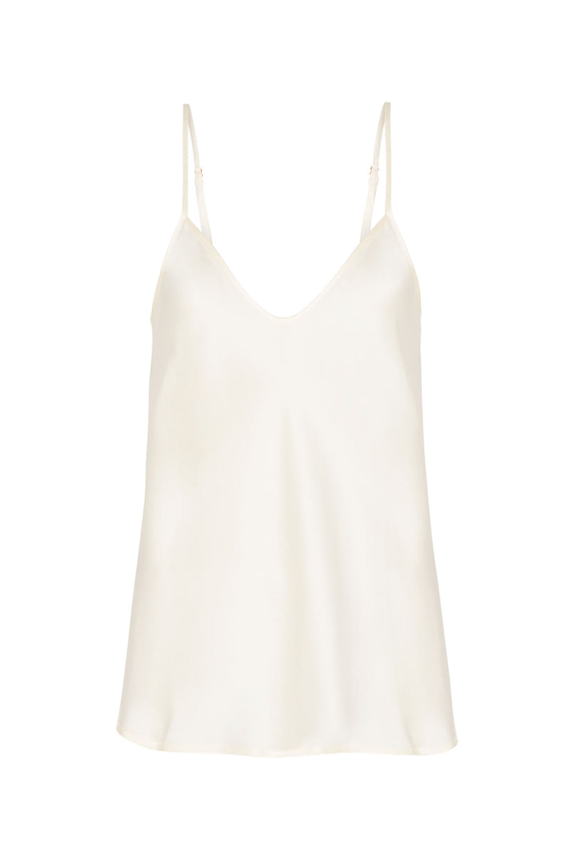 BIAS CUT CAMI WHITE