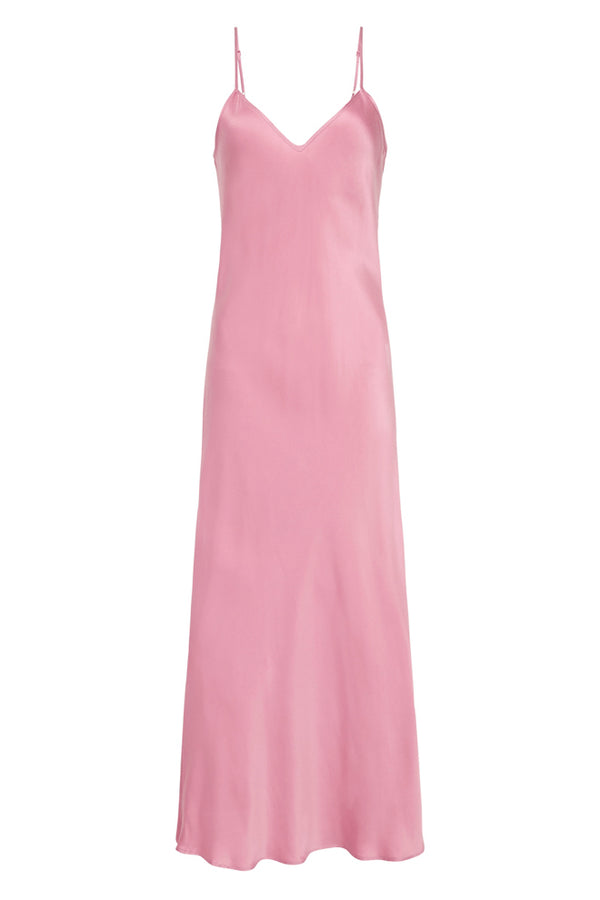 90S SILK SLIP DRESS PINK