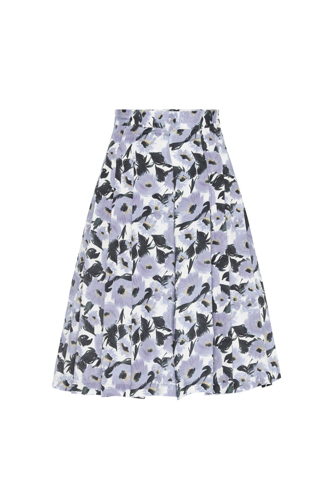 WIDE SHORTS FRENCH FLOWERS