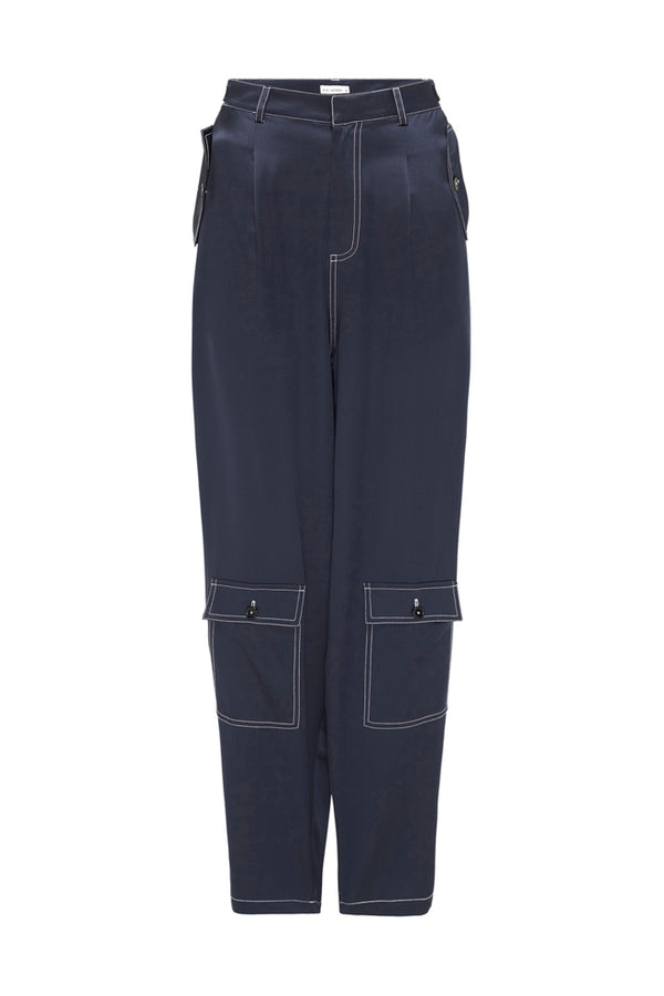 LOW POCKET PANTS NAVY