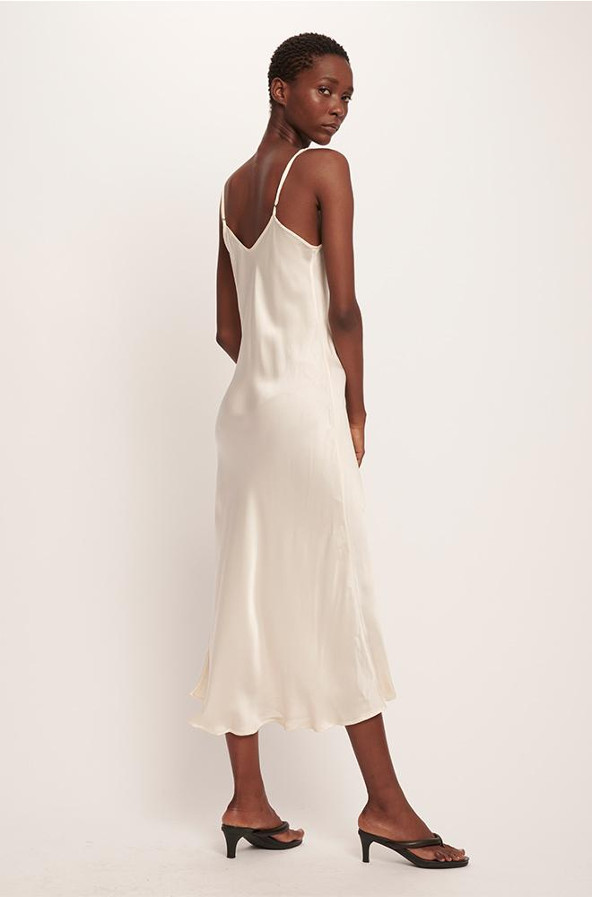 90S SILK SLIP DRESS IVORY