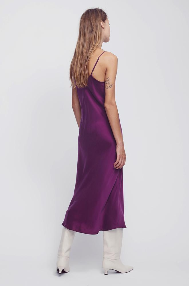 90S SILK SLIP DRESS BURNT VIOLET