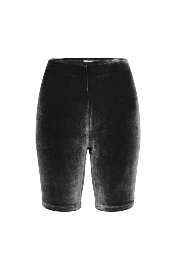 VELVET BICYCLE SHORTS BLACK