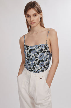 STRAIGHT NECK CAMI FRENCH FLOWERS