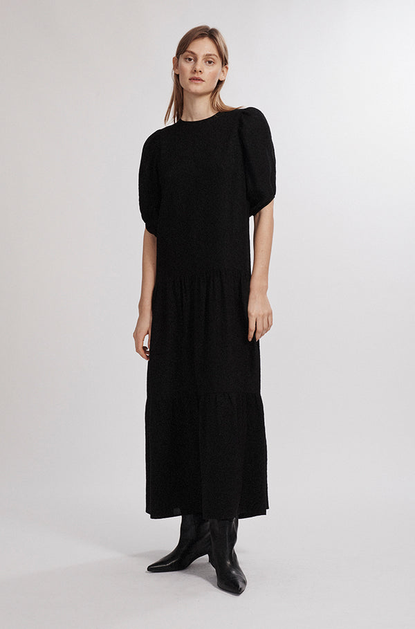 LONG FLOAT DRESS BLACK