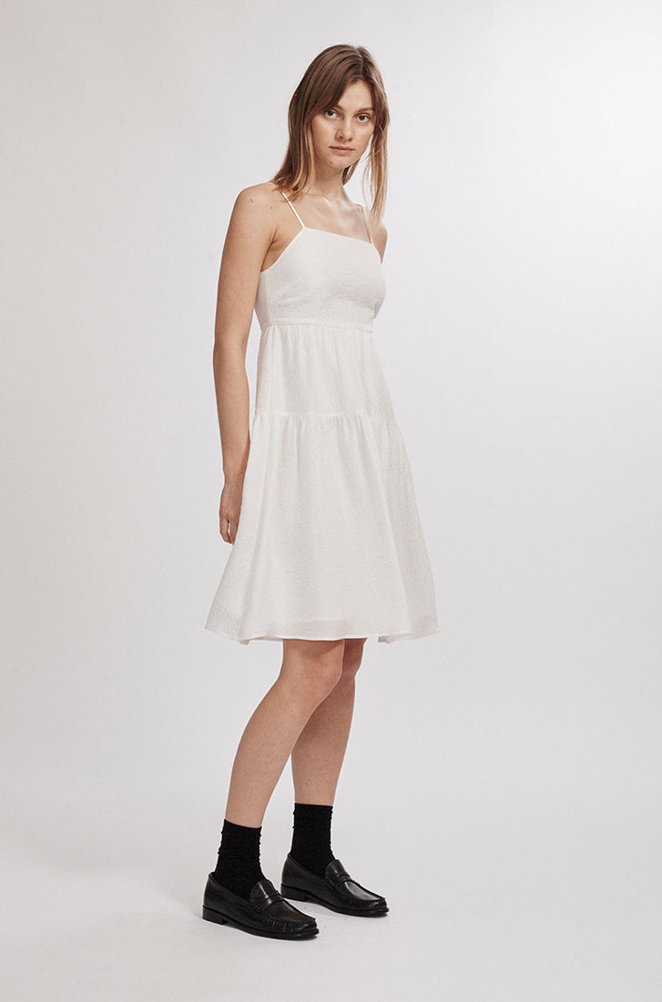SPAGHETTI STRAP DRESS WHITE