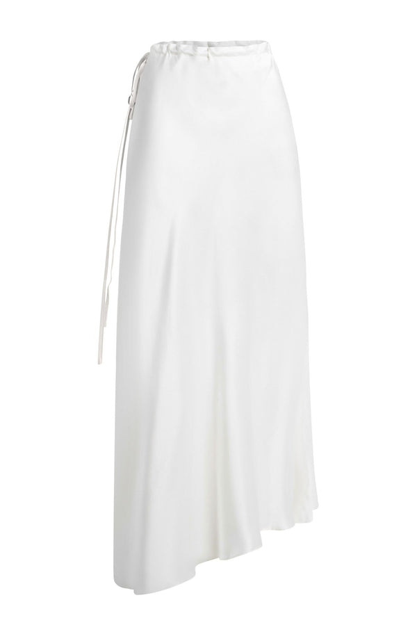 ASYMMETRIC SKIRT WHITE