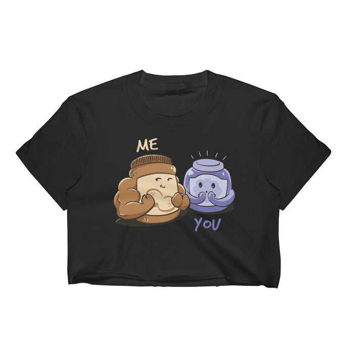Peanut Butter and Jelly - Crop Tee