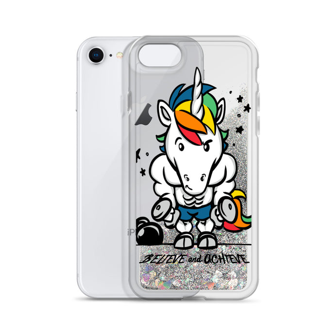 Believe and Achieve - Liquid Glitter iPhone Case
