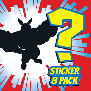 8 Pack Bulk Set - Vinyl Stickers