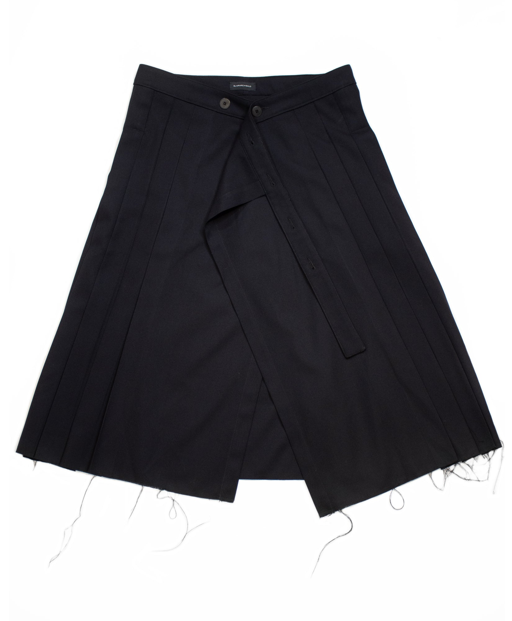 PLEATED ASYMMETRIC KILT
