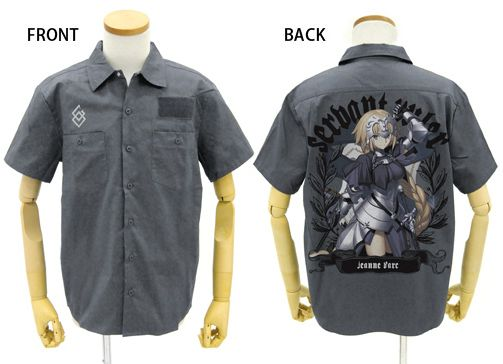 Fate/Grand Order Jeanne D'arc Full Color Work Shirt Gray Pre-order