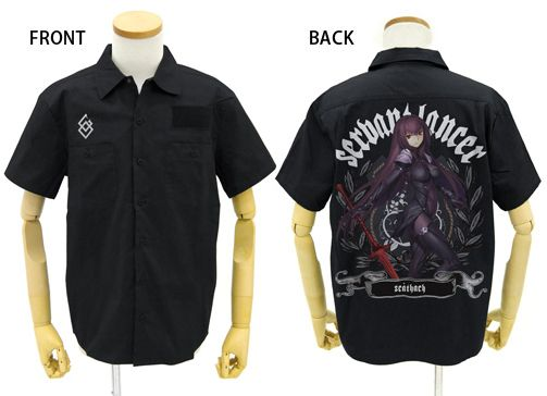 Fate/Grand Order Scáthach Full Color Work Shirt Black Pre-order