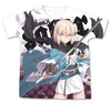 Fate/Grand Order Saber/Okita Souji Full Graphic White T-Shirt Pre-order
