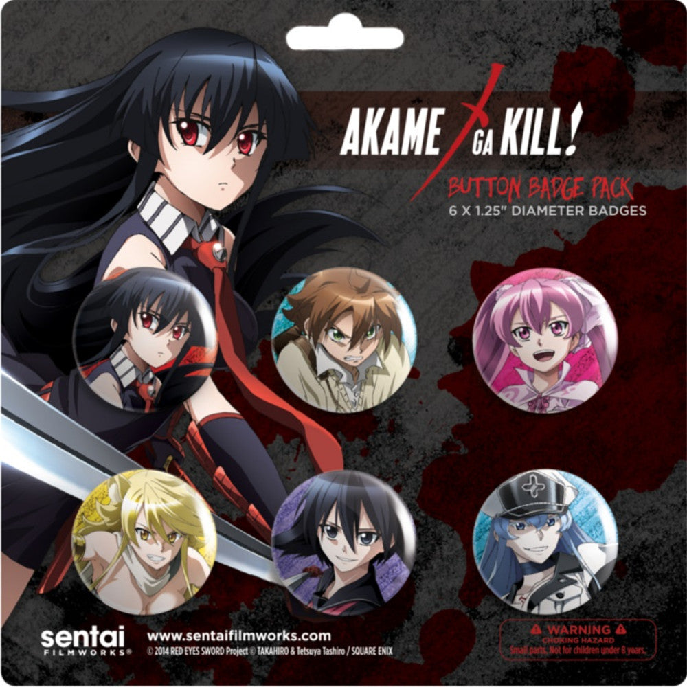 Akame ga Kill! 6 Button Pack