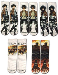 Attack on Titan 5 pack Socks - Alpine Anime