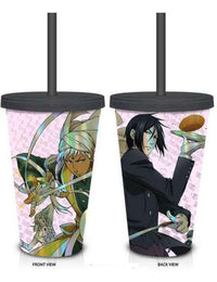 Black Butler Angi & Sebastian Tumbler with Straw