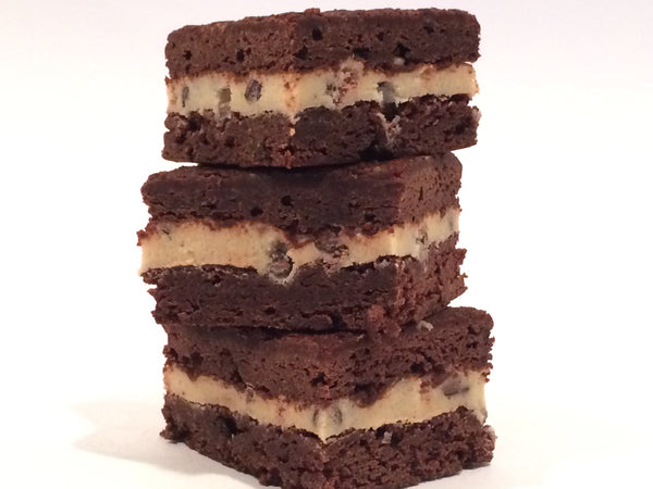 Cookie Dough Stuffed Brownies