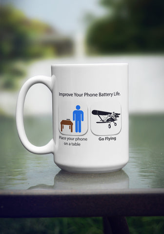"Limited Edition ""Improve Phone Battery Life"" 15 oz Mug"
