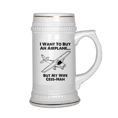 Wife Cess-Nah 22 oz Beer Stein