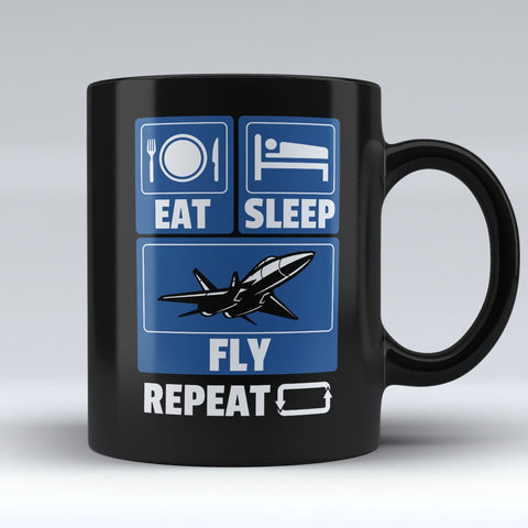 "Limited Edition - ""Eat Sleep Fly"" 11oz Mug"