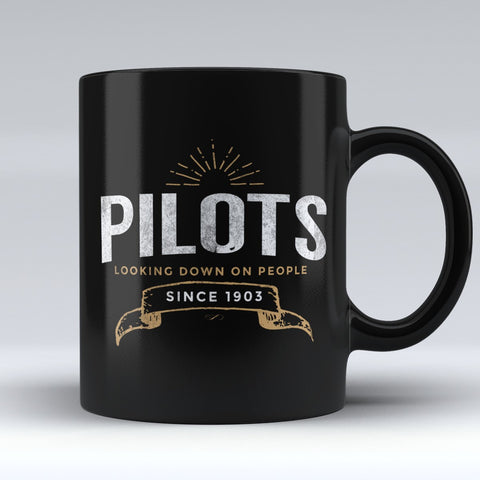 "Limited Edition ""Pilots Looking Down 3"" 11 oz Mug"