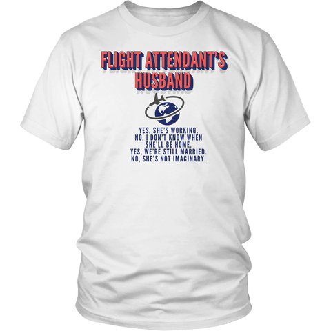 "Limited Edition - ""Flight Attendant Husband"" Hoodie - Shirt"