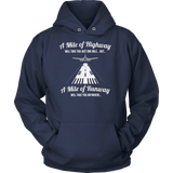 A Mile Of Highway vs Mile of Runway T-Shirt & Hoodie - Dark