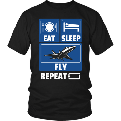 "Limited Edition - ""Eat Sleep Fly"" T-Shirt & Hoodie"