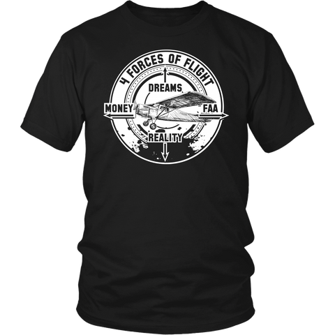 "Limited Edition - ""4 Forces Of Flight"" T-Shirt & Hoodie"