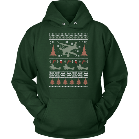 Boston Terrier Christmas Sweater.Limited Edition Biplane Ugly Christmas Sweater