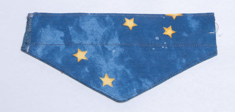 Gold Stars on Blue Pet Bandana