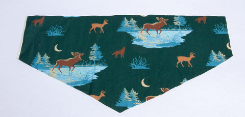 Deer on Hunter Green Pet Bandana