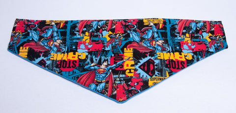 Superman Stops Crime Pet Bandana
