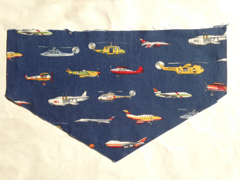 Multicolor Planes on Blue Pet Bandana