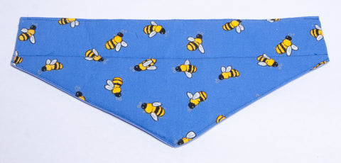 Bees on Blue 1 Pet Bandana