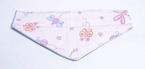 Nature - Insects Butterflies in Pink Pet Bandana