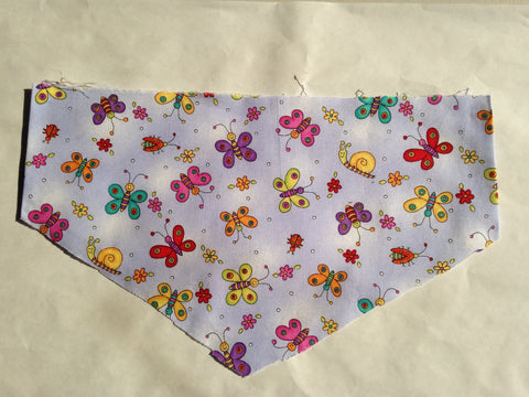 Nature - Insects Butterflies on Lavender Pet Bandana