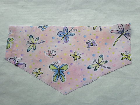 Nature - Insects Butterflies on Pink Pet Bandana