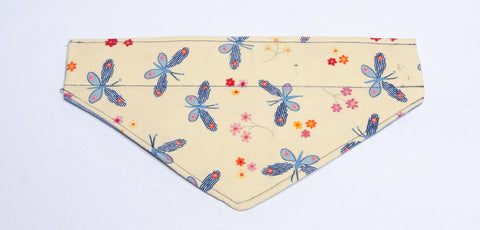 Nature - Insects Fireflies on Yellow Pet Bandana