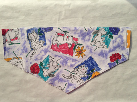 Dogs & Cats with Flowers Pet Bandana