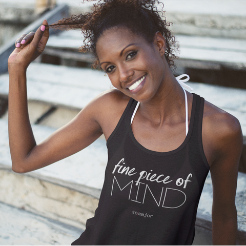 fine piece of mind (Women's Racerback Tank)