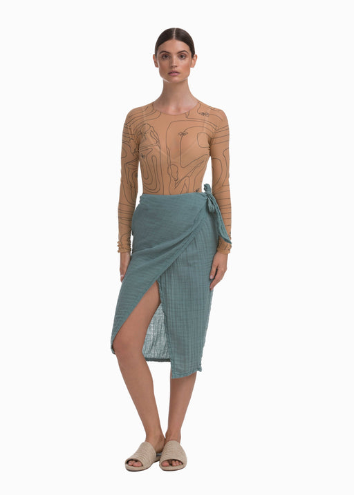 Banda Skirt | Dusty Teal