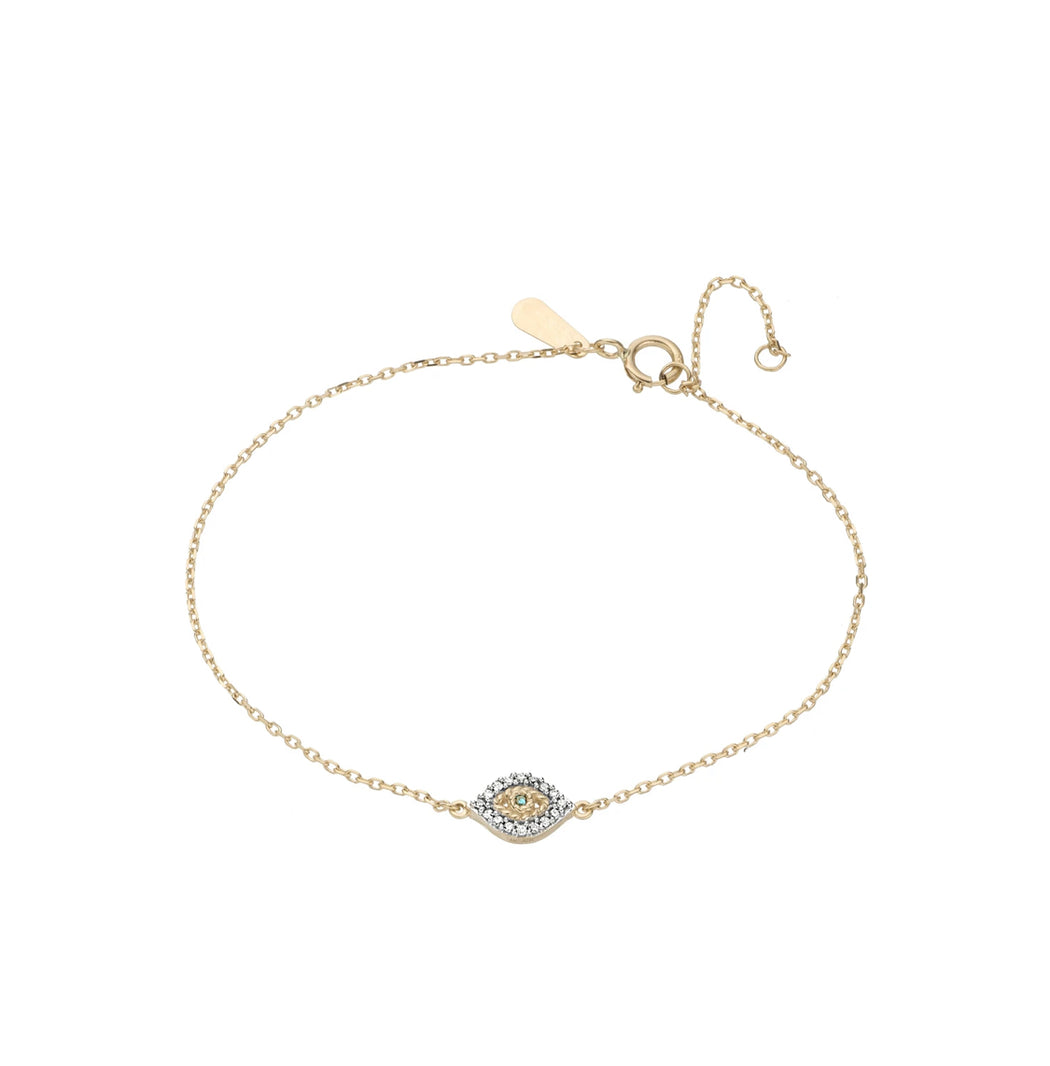 Super Tiny Pavé Evil Eye Bracelet