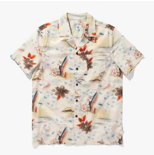 Rainbows Woven Shirt | Blue Fog