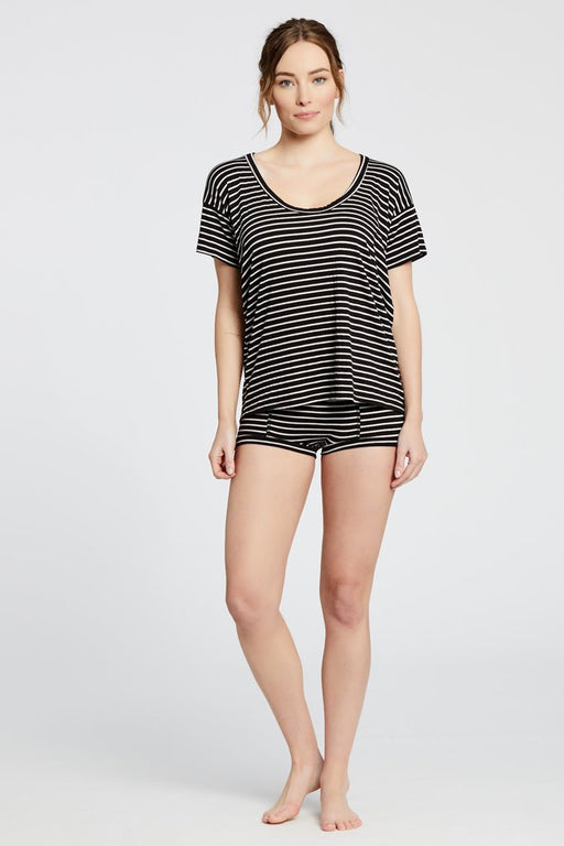 Kira Top | Black & White Stripe