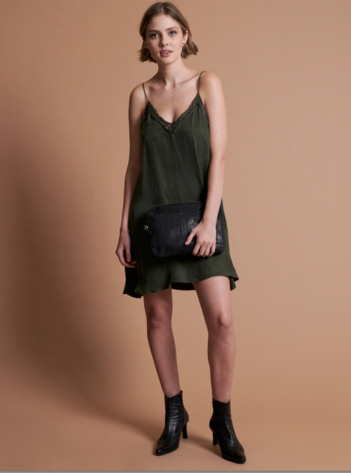 Delirious Slip Dress | Khaki