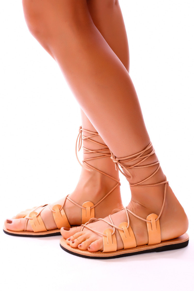 Natural Leather x Gladiator Sandal