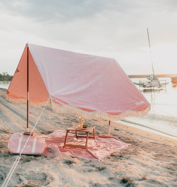 Lauren's Pink Stripe Beach Blanket